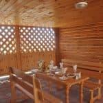 Обед в беседках на озере Алаколь в доме отдыха Робинзон