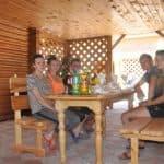 Наши гости в беседках на озере Алаколь в зоне отдыха Робинзон